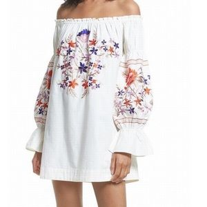 Free people embroidered off the shoulder dress